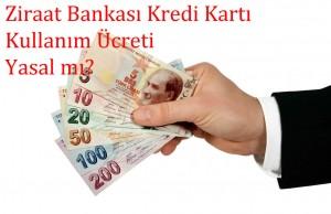 Ziraat Bankası Kredi Kartı Kullanım Ücreti