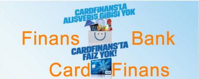 Finans Bank Card Finans Kredi Kartı Faiz Oranı Sıfır.