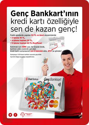Ziraat bankası Genç Bankkart 40 tl maxipuan kampanyası hakkında detaylı bilgi