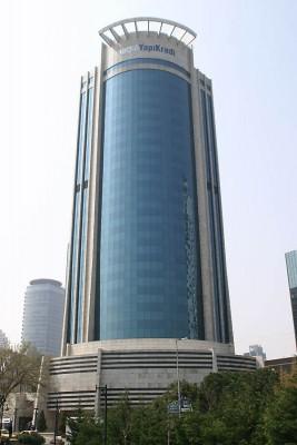 yapı kredi bankası ana bina, yapı kredi merkez şube, yönetim merkezi