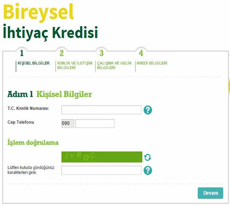 garanti bankası online kredi başvurusu